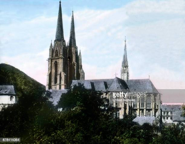 The St Elizabeth church from the East in the city of Marburg Hesse