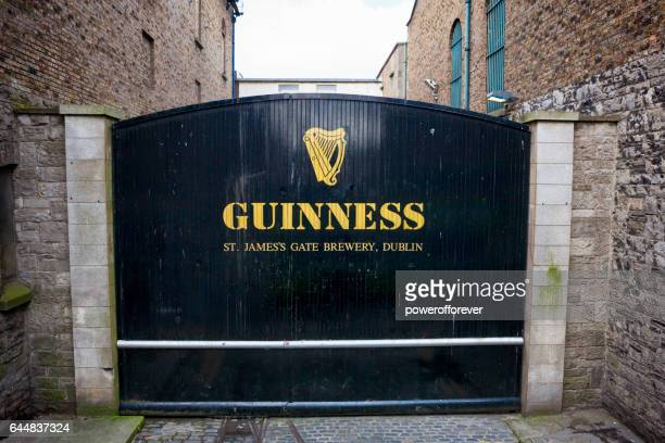 the st. james's gate at guinness brewery in dublin, ireland - guinness stock photos and pictures