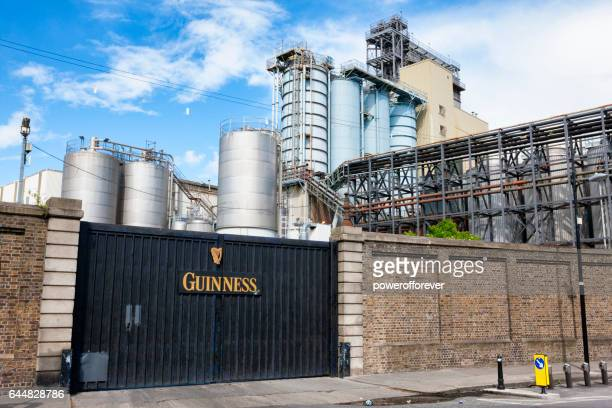 the st. james's gate guinness brewery in dublin, ireland - guinness stock photos and pictures