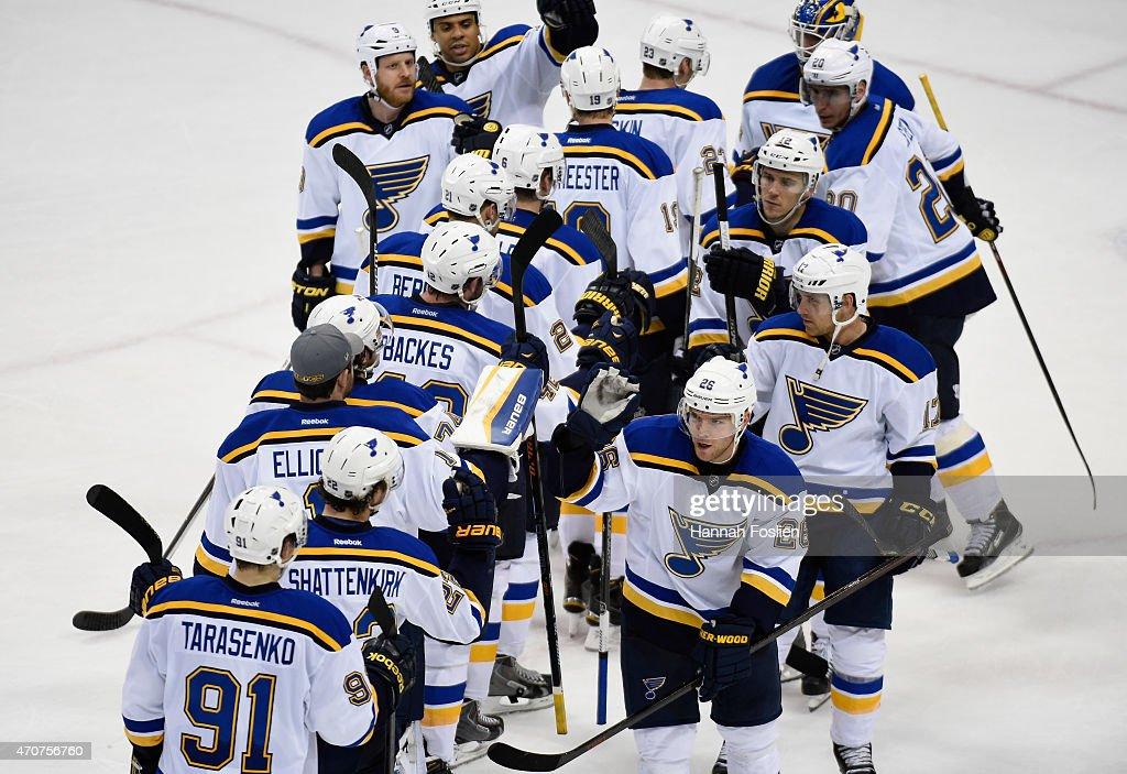 St Louis Blues v Minnesota Wild - Game Four : News Photo