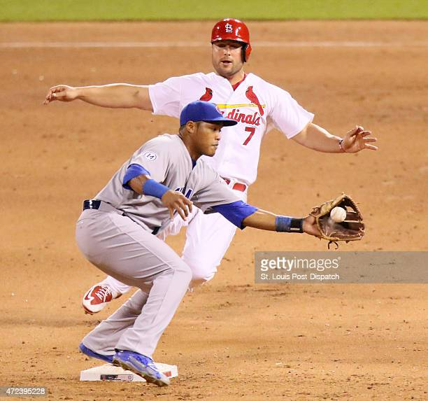 The St Louis Cardinals' Matt Holliday is forced out at second base by Chicago Cubs second baseman Addison Russell to end a 65 Cubs win on Wednesday...