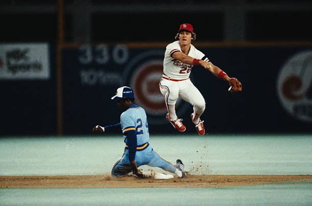 Tommy Herr Making Double Play