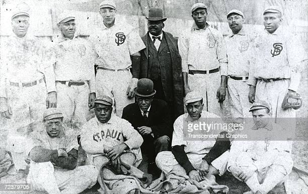 The St Paul Gophers Baseball Team champions of the United States Negro League poses for a picture during their championship season of 1908
