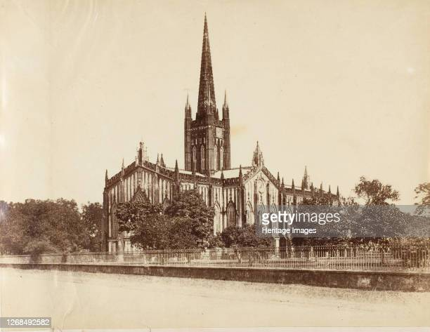 [The St Pauls Cathedral Calcutta] 1850s Artist Captain R B Hill