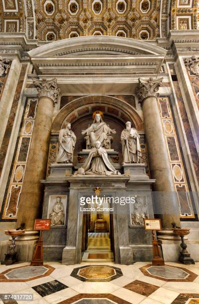 The St Peter's basilica is seen from inside on November 1 2017 in Vatican City Vatican Thousands of people visit every day the largest christian...