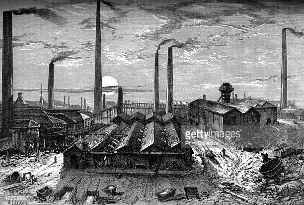 The St Rollox chemical works Glasgow c1880 The factory produced bleaching powder A print from Great Industries of Great Britain Volume I published by...