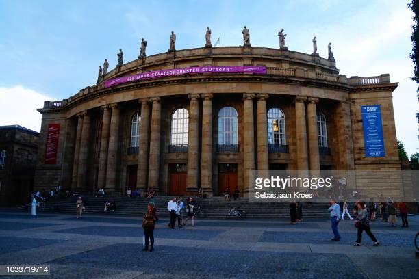 The Staatoper Stuttgart Opera House, Dusk, Stuttgart, Germany