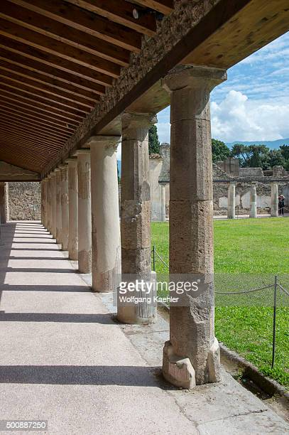 The Stabian Baths Palaestra in Pompeii Italy are probably dating back to the 5th century BC