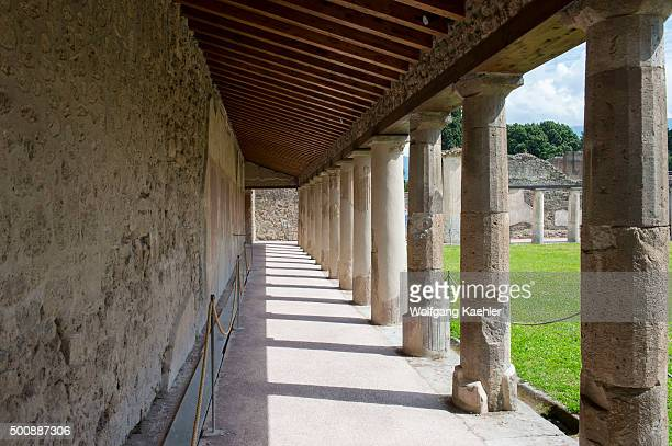 The Stabian Baths Palaestra in Pompeii Italy is probably dating back to the 5th century BC