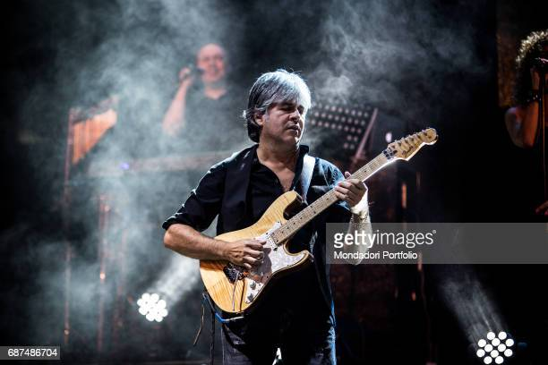 The Stadio in concert at Carroponte for Emergency In this picture the guitarist Andrea Fornili Sesto San Giovanni 9th September 2016