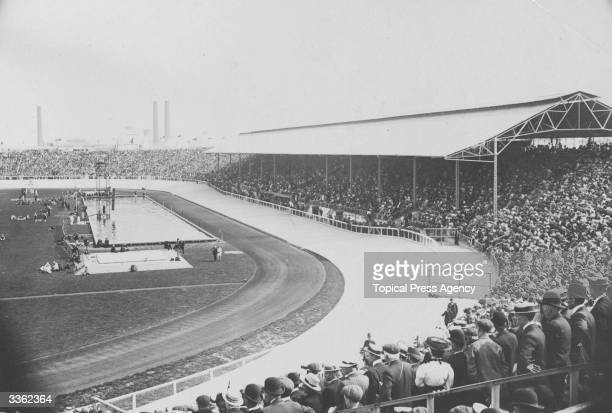 The stadium at Shephard's Bush where the Olympic Games were held in London in 1908