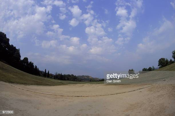 The Stadium at the site of the Ancient Olympic Games in Olympia in Greece