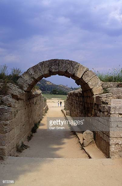 The Stadium Gateway at the site of the Ancient Olympic Games in Olympia in Greece
