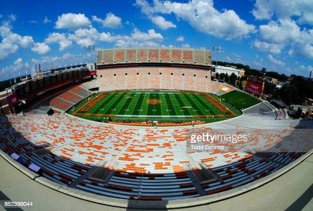 The stadium is empty before the start of the game against the Clemson Tigers and the Boston College Eagles at Memorial Stadium on September 23, 2017...