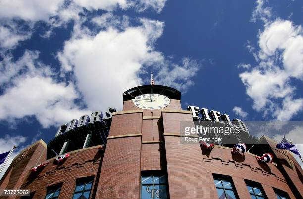 The stadium stands ready on Opening Day of Major League Baseball as the Arizona Diamondbacks face the Colorado Rockies at Coors Field on April 2,...