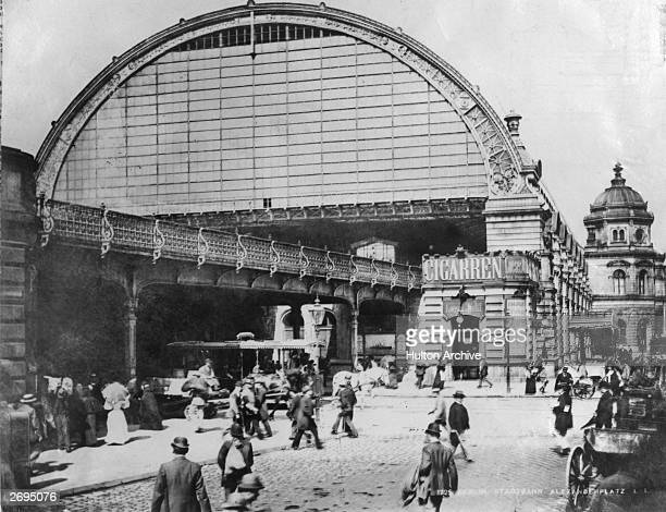 The Stadtbahn station in Alexanderplatz Berlin