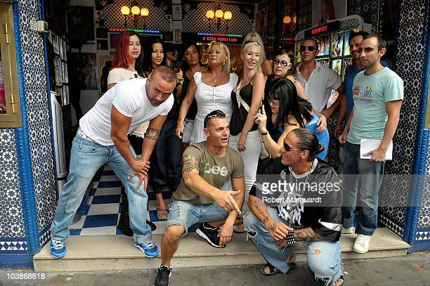 The staff and cast of Bagdad Live Adult Theater shows attend a press conference in support of fellow cuban adult actor Dinio Garcia whose residency...