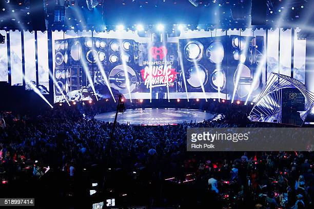 The stage at the iHeartRadio Music Awards at The Forum on April 3 2016 in Inglewood California