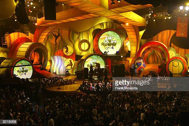 The stage during Nickelodeon's 17th Annual Kids' Choice Awards at Pauley Pavilion on the campus of UCLA April 3 2004 in Westwood California