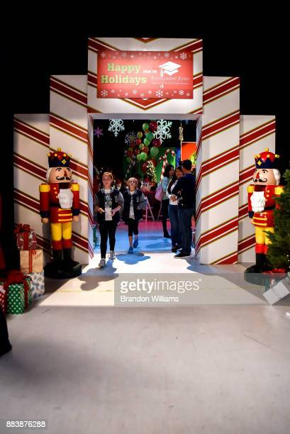 The stage entrance at The Fulfillment Fund's 45th Annual Holiday Party for Kids at CBS Televison City on December 1 2017 in Los Angeles California