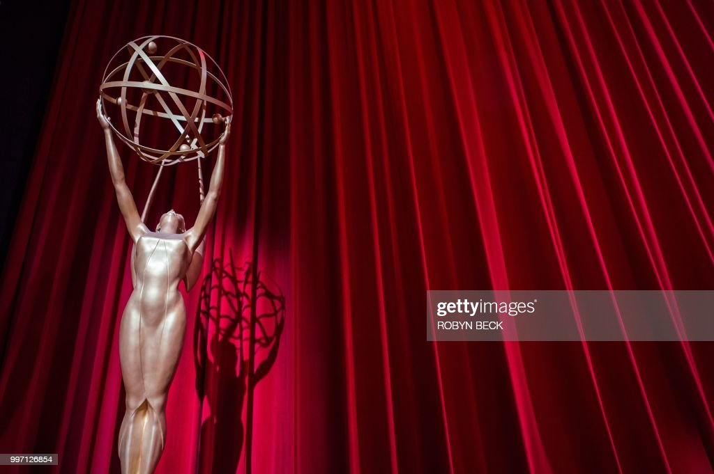 The stage is set ahead of the nominations announcement for the 70th Emmy Awards on July 12, 2018 at the Television Academy's Wolf Theatre in North Hollywood, California. - HBO's fantasy epic 'Game of Thrones' led the field for television's prestigious Primetime Emmy awards on Thursday, with a whopping 22 nominations, including one for best drama series.The show about noble families vying for the Iron Throne faces tough competition from perennial favorite sketch show 'Saturday Night Live' and HBO stablemate 'Westworld' with 21 nominations each, followed by Hulu's 'A Handmaid's Tale' with 20 nods. The Emmy Awards will take place September 17, 2018 at the Microsoft Theater in Los Angeles.