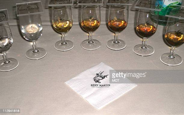 The stage is set for a cognac tasting at Remy Martin one of Cognac's oldest and best known brands