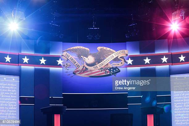 The stage is set for Monday night's presidential debate between Democratic presidential nominee Hillary Clinton and Republican presidential nominee...
