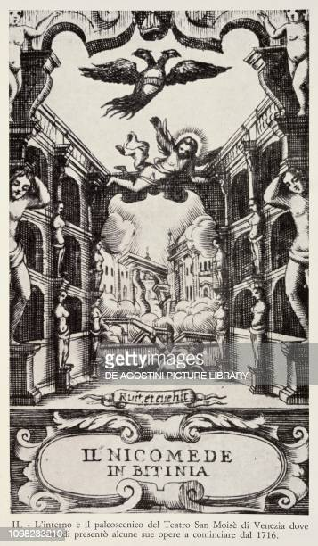 The stage of Teatro San Moise during the performance of Nicomedes in Bithynia Venice Italy 18th century