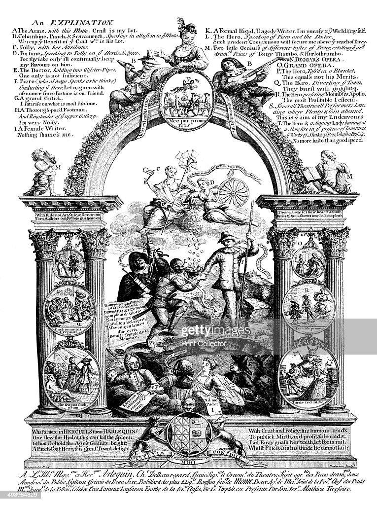 'The Stage's Glory', 18th century. : News Photo
