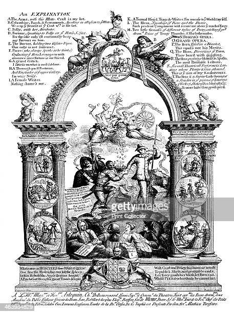 'The Stage's Glory' 18th century Illustration from Social Caricature in the Eighteenth Century With over two hundred illustrations by George Paston...