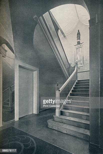 The staircase and hall of Finella by architect Raymond McGrath ' 1930 From The Studio Volume 99