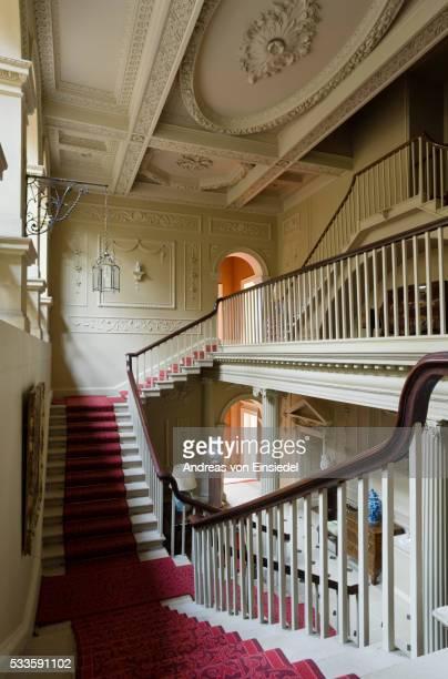 the staircase hall at wallington, northumberland - モーペス ストックフォトと画像