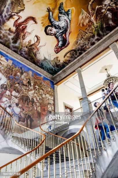 The staircase inside the Castillo de Chapultepec Castle