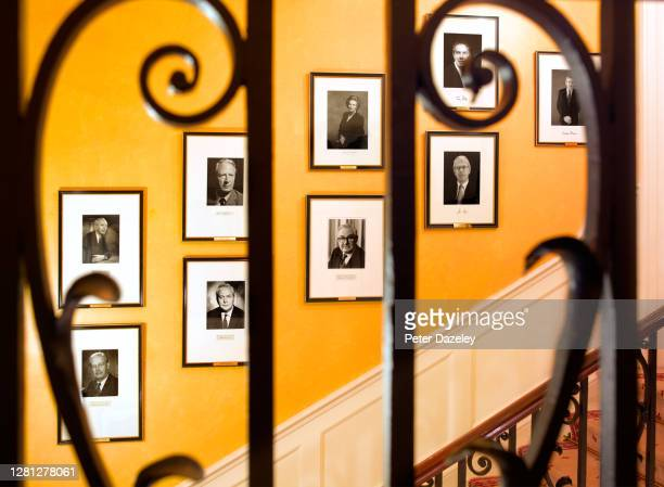 The Staircase of 10 Downing Street during December 2013 in London,England.