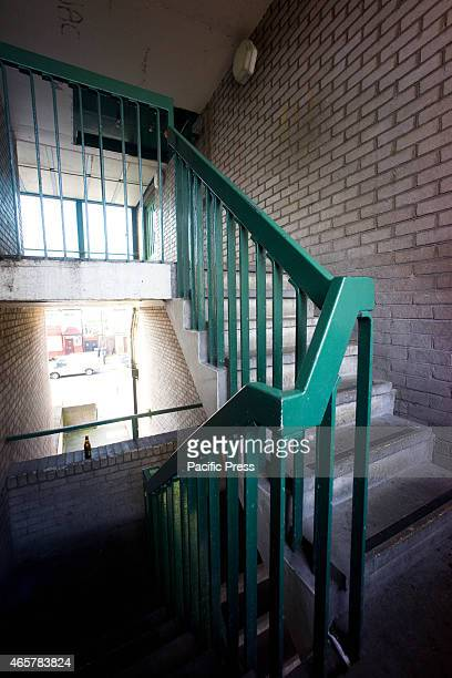 The staircase outside the crime scene A man was stabbed to death at 73 Millicent Fawcett Pembury Road in the London northern suburb of Tottenham at...
