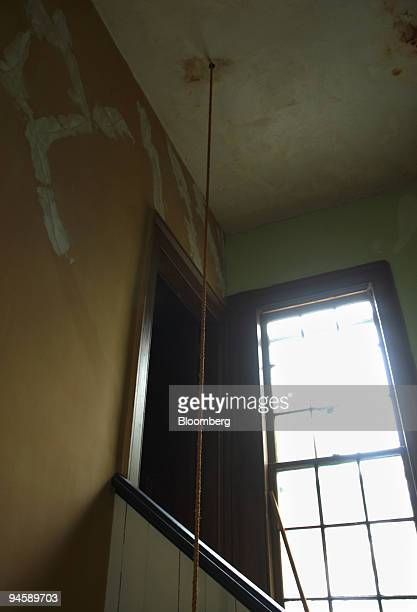 The stairwell in need of repair follows the rope which leads to the belfry at the Sag Harbor Methodist Church on Madison Street in Sag Harbor Long...