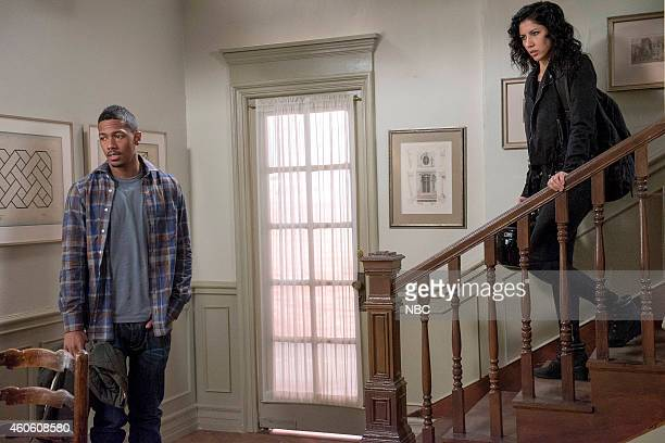 NINE 'The Stakeout' Episode 211 Pictured Nick Cannon as Marcus Stephanie Beatriz as Gina