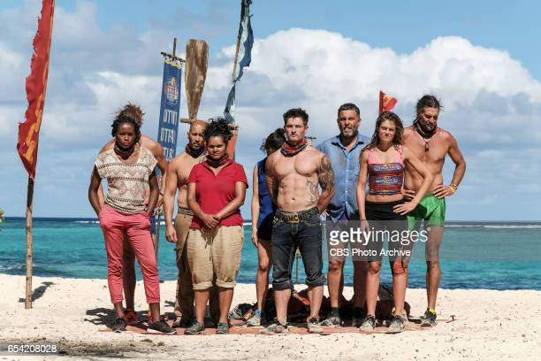 'The Stakes Have Been Raised' Michaela Bradshaw Tony Vlachos Sandra DiazTwine Caleb Reynolds Jeff Varner Hali Ford and Troyzan Robertson on SURVIVOR...