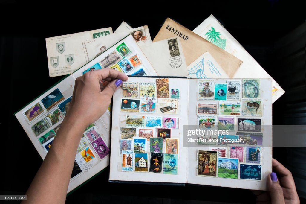 The Stamp Collector : Stock Photo
