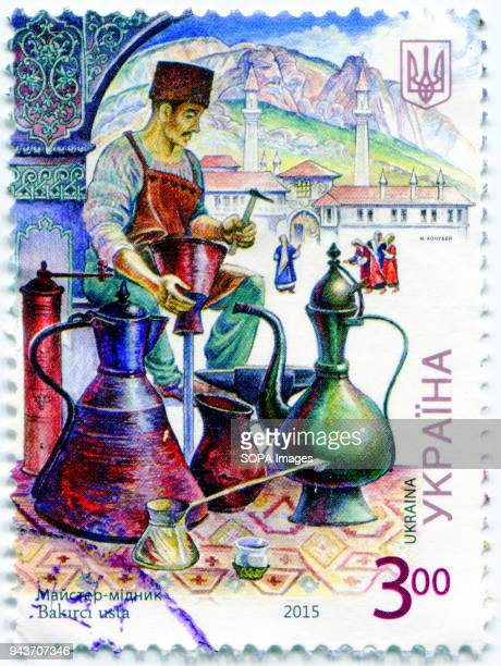 The stamp is dedicated to the Crimean Tatars Postage stamp shows the image of Master Copper Ukraine 2015