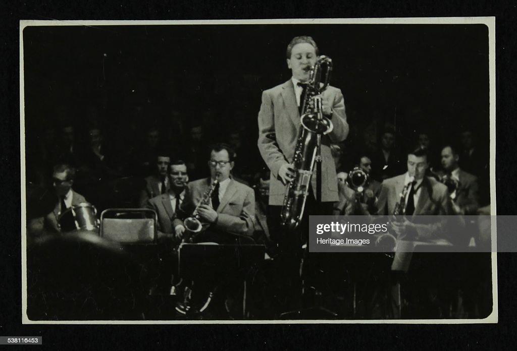 The Stan Kenton Orchestra in concert, 1956. Artist: Denis Williams.