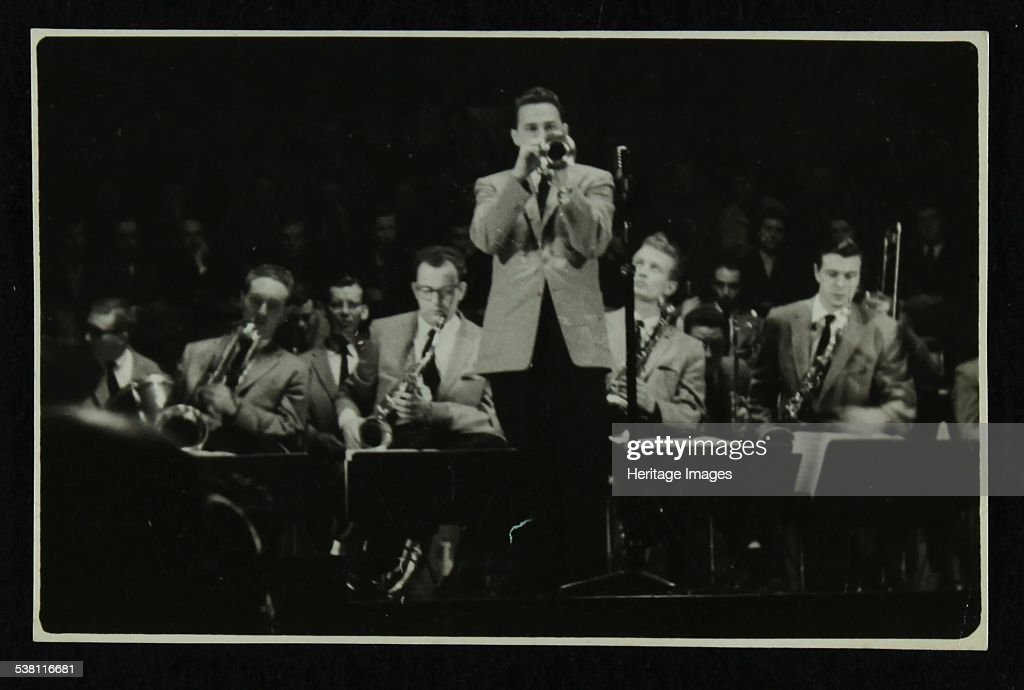 The Stan Kenton Orchestra in concert, 1956. Artist: Denis Williams.