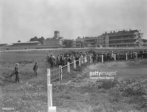 The stand and race course at Ascot, September 1922.