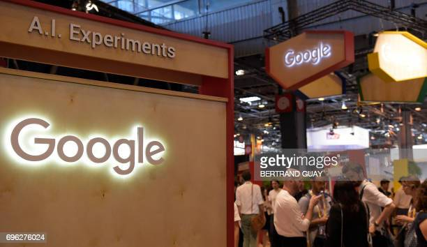 The stand of US technology internetrelated services and products Google is pictured at the Viva Technology event on June 15 2017 in Paris GUAY