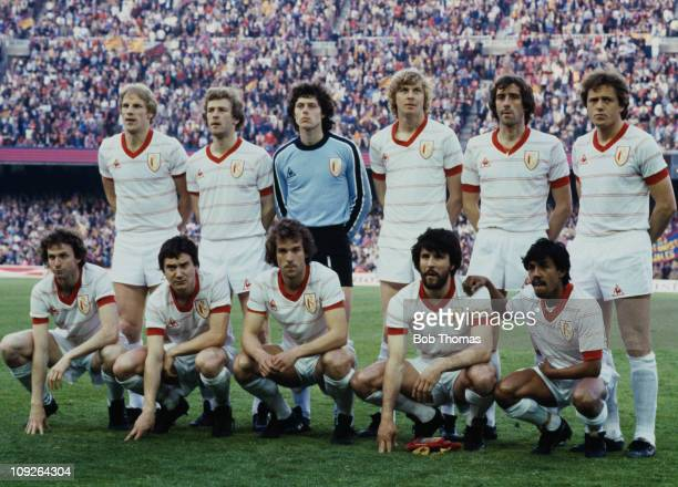 The Standard Liege team before their European Cup Winners' Cup final match against Barcelona at the Camp Nou in Barcelona Spain 12th May 1982...
