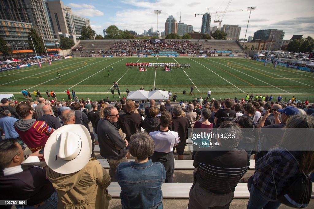 Toronto Wolfpack, of RLFC, take on Widnes Vikings : News Photo