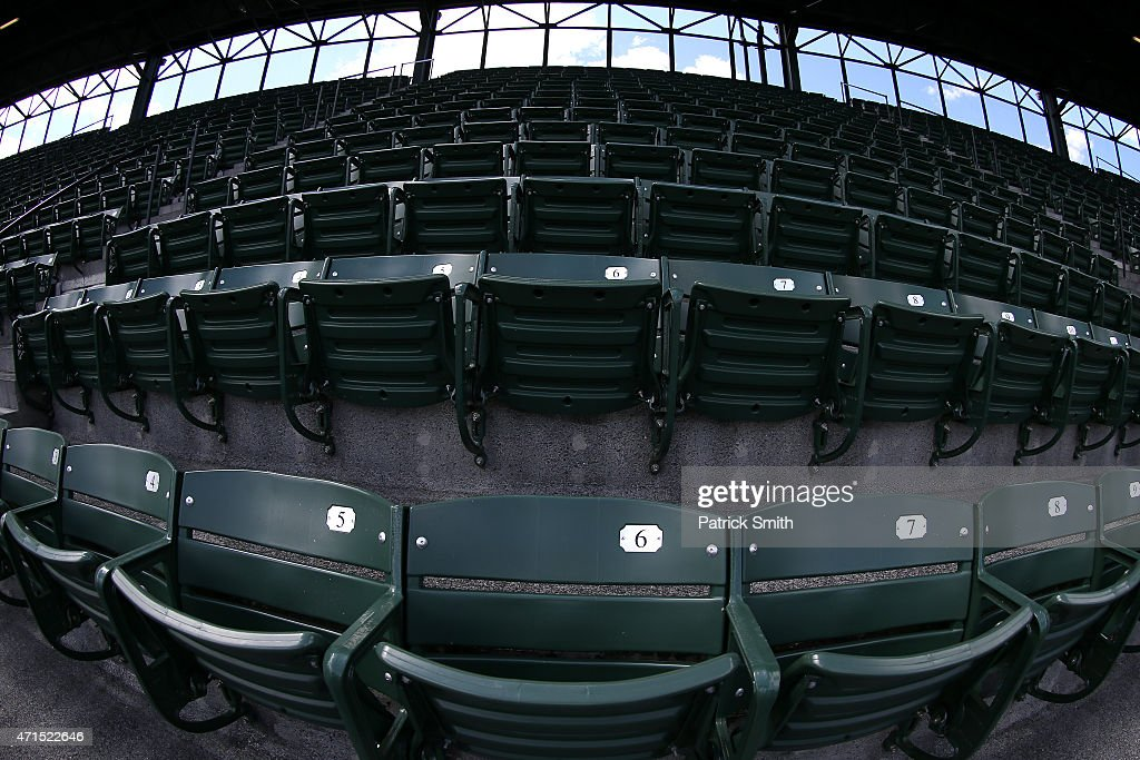 Baltimore Unrest Forces Orioles Play White Sox In An Empty Camden Yards : News Photo