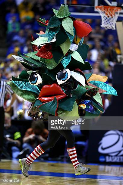 The Stanford Cardinal mascot cheers against the Kansas Jayhawks during the third round of the 2014 NCAA Men's Basketball Tournament at Scottrade...