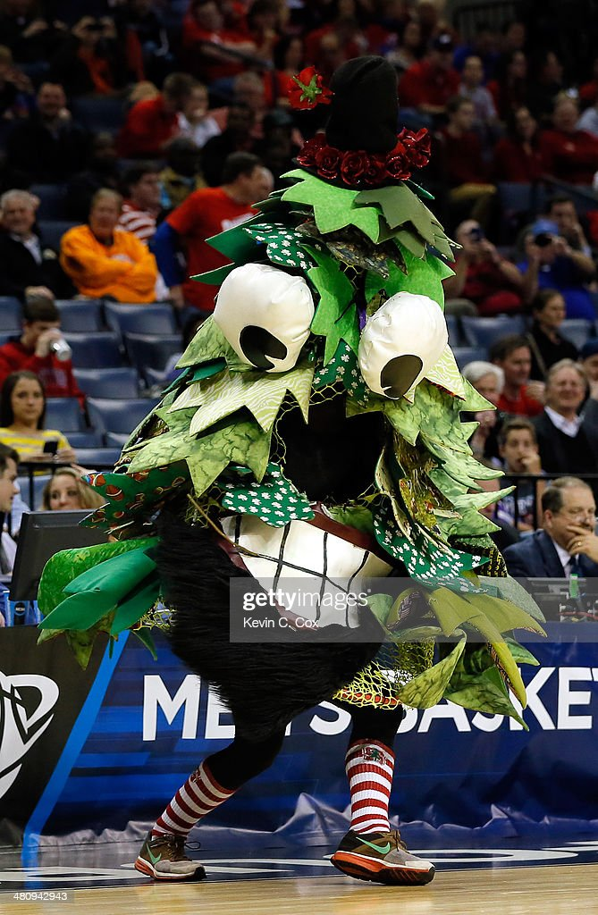 The Stanford Cardinal mascot performs during a regional semifinal of the 2014 NCAA Men's Basketball Tournament against the Dayton Flyers at the FedExForum on March 27, 2014 in Memphis, Tennessee.
