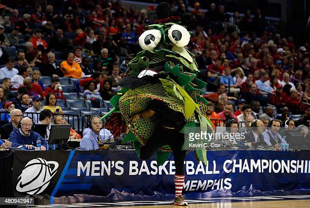 The Stanford Cardinal mascot performs during a regional semifinal of the 2014 NCAA Men's Basketball Tournament against the Dayton Flyers at the...